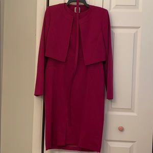 Anne Klein Plum colored dress suit with belt